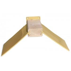 Siodełko drewniane + skrzydełka beżowe + uchwyt mocujący