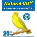 """Natural Vit Karma dla kanarka """"Bez konopii"""" 42 20kg"""